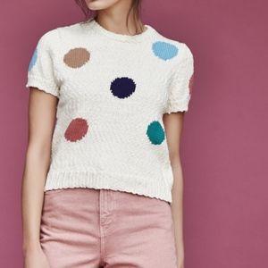 Polka Dot Crewneck Sweater